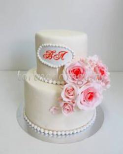 Заказать торт свадебный - Розочки