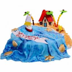 Детский торт # Парусник