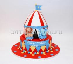 Детский торт # Любимый цирк