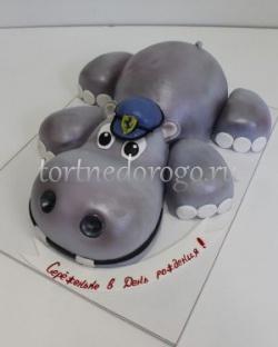 Прикольные торты на день рождения # Торт бегемотик