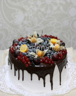 Торт свадебный 1 ярус # Шоколадная любовь