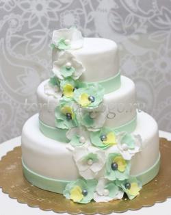 Торт свадебный 3 яруса # Блаженство