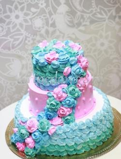 Торт свадебный 3 яруса # Разноцветное настроение
