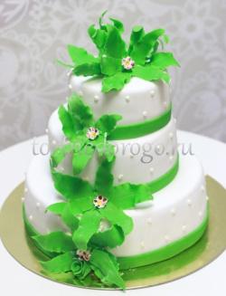 Торт свадебный 3 яруса # Мечтание