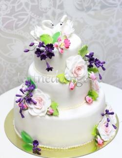 Торт свадебный 3 яруса # Предвкушение