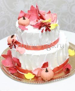 Торт свадебный  ярус # Осенняя сказка