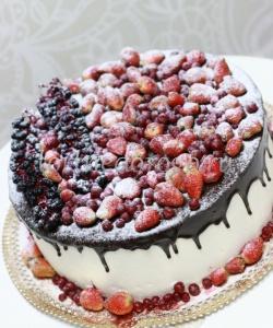 Торт свадебный 1 ярус # Зимняя нежность