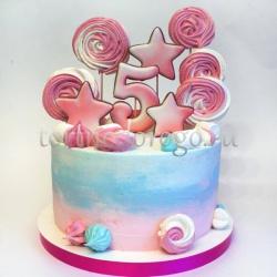 Торт детский цифра # Веселые цифры со сладостями
