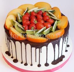 Торт без мастики # Фруктовое настроение