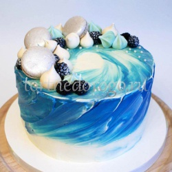Торт для жены # Бирюза