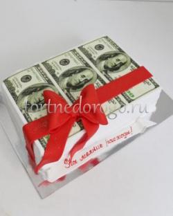 Прикольные торты на день рождения # Доллары