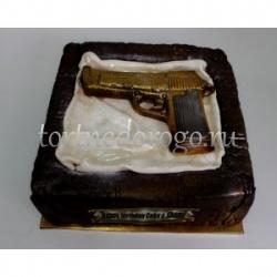 Прикольные торты на день рождения # Пистолет