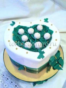 Торт свадебный 1 ярус # Зеленая свадьба