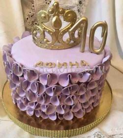 Детский торт # Торт с диадемой