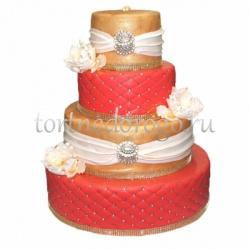 Торт свадебный 4 яруса # Шахерезада