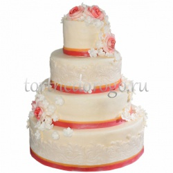Торт свадебный 4 яруса # Вершина желаний
