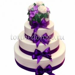Торт свадебный 4 яруса # Узы любви