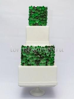 Торт свадебный 4 яруса # Клевер