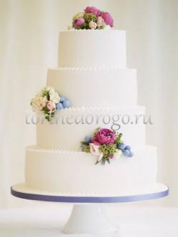 Торт свадебный 4 яруса # Забава