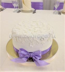 Торт свадебный 1 ярус # Сиреневая свадьба