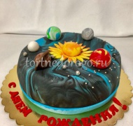 Детский торт # Космос