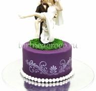 Торт свадебный 1 ярус #  Поцелуй