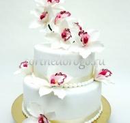 Торт свадебный  ярус # Орхидея любви