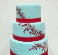 Торт свадебный 3 яруса # Веточка любви