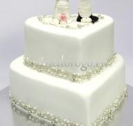 Торт свадебный  ярус # Любовь и кошечки
