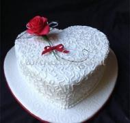 Торты свадебные 1 ярус # 11