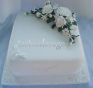 Торты свадебные 1 ярус # 22