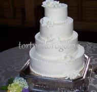 Торт свадебный 4 яруса № 5