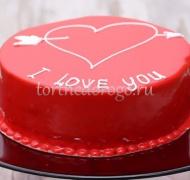 Торт на 14 февраля #1