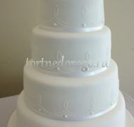 Торт свадебный 4 яруса № 15