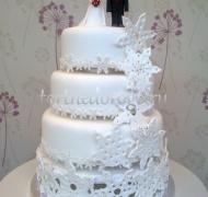 Торт свадебный 4 яруса № 7