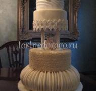 Торт свадебный 4 яруса № 3