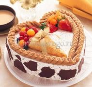 Торт на 14 февраля #15