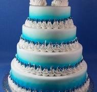 Торт свадебный 4 яруса № Секрет
