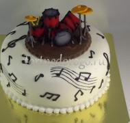 Необычные торты # Барабанщик