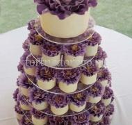 Торты с капкейками и мини пирожными # 19