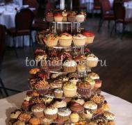 Торты с капкейками и мини пирожными # 11