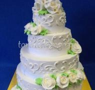 Торт свадебный 4 яруса # Ветер