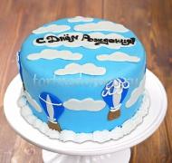 Прикольные торты на день рождения # Небо