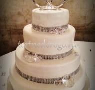 Торт свадебный 4 яруса № 9