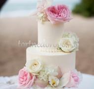 Заказать торт свадебный - Пионы