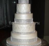 Торт свадебный 5 ярусов # 19
