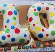 Торт детский цифра # Разноцветные цифры