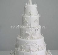 Торт свадебный 5 ярусов # 4