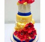 Торт свадебный 3 яруса # Радуга