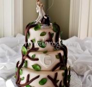Прикольные торты на свадьбу # 14